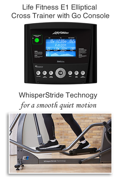 Quiet elliptical cross trainers with touch screen control