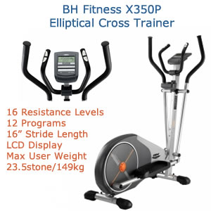 141563595551 BH Fitness Elliptical Crosstrainer Max User Weight 23.5 stone